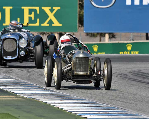 Richard Jeffery with 1937 Triumph Special 9 in Group 1A - Pre 1940 Sports Racing and Touring Cars at the 2015-Rolex Monterey Motorsport Reunion, Mazda Raceway Laguna Seca