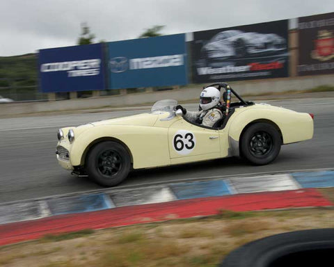 Dave Hogye with 1959 Triumph TR3A in Group 3  at the 2016 HMSA Spring Club Event - Mazda Raceway Laguba Seca