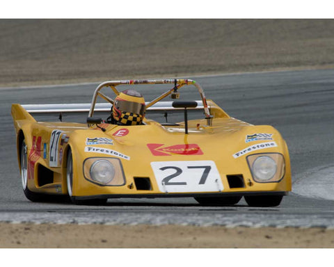 Keith Frieser driving his Lola T290 in Group 5 at the 2015 HMSA Spring Club Event at Mazda Raceway Laguna Seca