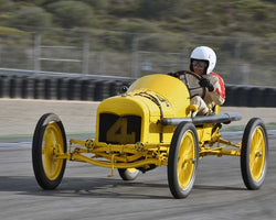 Ed Archer with 1915 Ford Roadster in Group 1A - Pre 1940 Sports Racing and Touring Cars at the 2015-Rolex Monterey Motorsport Reunion, Mazda Raceway Laguna Seca
