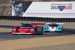 Erich Wilms with 1989 Porsche 962 in Group 6 - Stuttgart Cup at the 2015 Rennsport Reunion V, Mazda Raceway Laguna Seca