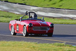 Bill Greenman - 1967 MG Midget in Group 2 - Small Displacement Production Sports Cars and GT Cars Through 1972 at the 2018 CSRG David Love Memorial run at Sonoma Raceway