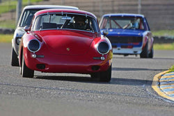 Marc Hugo - 1964 Porsche 356C in Group 2 - Small Displacement Production Sports Cars and GT Cars Through 1972 at the 2018 CSRG David Love Memorial run at Sonoma Raceway