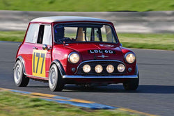 Dennis Racine - 1966 Mini Cooper S in Group 2 - Small Displacement Production Sports Cars and GT Cars Through 1972 at the 2018 CSRG David Love Memorial run at Sonoma Raceway