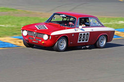 Rick Jeffery - 1966 Alfa Romeo GTA in Group 2 - Small Displacement Production Sports Cars and GT Cars Through 1972 at the 2018 CSRG David Love Memorial run at Sonoma Raceway