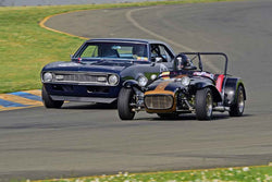Paul Quackenbush - 1963 Lotus Super 7 in Group 3 - Large Displacement Production Sports Cars and GT Cars Through 1972 at the 2018 CSRG David Love Memorial run at Sonoma Raceway