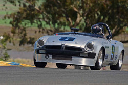 Scott Brown - 1964 MGB in Group 3 - Large Displacement Production Sports Cars and GT Cars Through 1972 at the 2018 CSRG David Love Memorial run at Sonoma Raceway