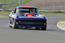 Damian Friary - 1966 Chevrolet Corvette in Group 3 - Large Displacement Production Sports Cars and GT Cars Through 1972 at the 2018 CSRG David Love Memorial run at Sonoma Raceway