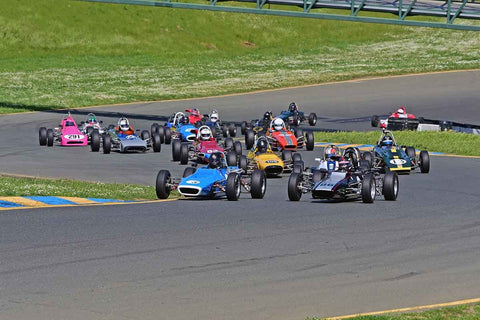 CSRG Group 6 - Formula Ford Open Wheel Cars at the 2018 CSRG David Love Memorial run at Sonoma Raceway