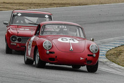 Joseph Rossi - 1964 Porsche 356C in Group 4 -  at the 2018 HMSA Spring Club Event run at Mazda Raceway Laguna Seca