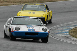 Don Hogue - 1967 Lotus Europa Mark 47 in Group 4 -  at the 2018 HMSA Spring Club Event run at Mazda Raceway Laguna Seca