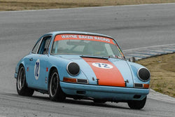 Wayne Baker - 1967 Porsche 911 in Group 4 -  at the 2018 HMSA Spring Club Event run at Mazda Raceway Laguna Seca