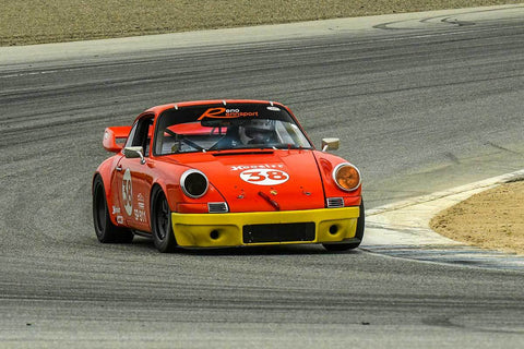Porsche Racing Clib in Group PRC - Porsche Racing Club at the 2018 HMSA Spring Club Event run at Mazda Raceway Laguna Seca