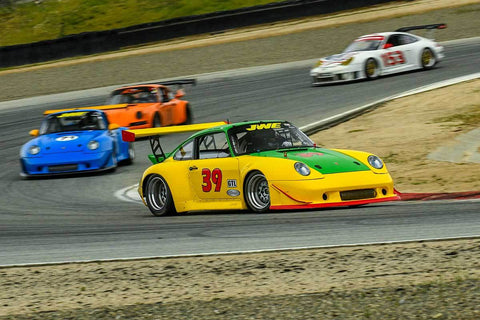 Alan Austin -  Porsche 911 in Group PRC - Porsche Racing Club at the 2018 HMSA Spring Club Event run at Mazda Raceway Laguna Seca