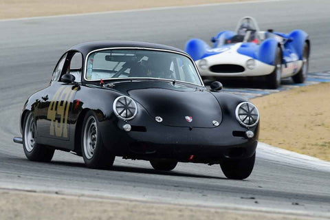 Alec Hugo - 1962 Porsche 356B in Group D - Sports Cars under 2.0 Litre at the 2018 SCRAMP Spring Classic run at Weathertech Raceway Laguna Seca