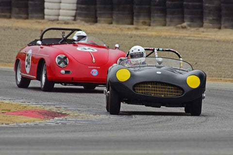 Kevin Adair - 1955 Elva Mk 1 in Group D - Sports Cars under 2.0 Litre at the 2018 SCRAMP Spring Classic run at Weathertech Raceway Laguna Seca