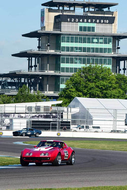 Scott Borchetta - 1972 Chevrolett Corvette in Group 6 - Big Bore Production Sports Crs and Sedans Through 1972 at the 2018 SVRA Brickyard Vintage Racing Invitational run at Indianapolis Motor Speedway