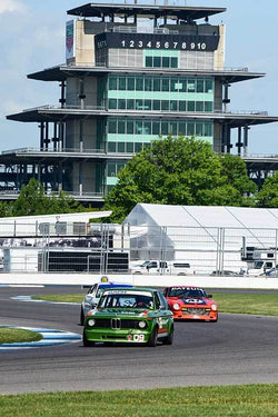 John Coyle - 1975 BMW 2002 in Group 8/12B -  at the 2018 SVRA Brickyard Vintage Racing Invitational run at Indianapolis Motor Speedway