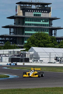Scott Dick - 2005 Dallara Infinity in Group 9 - Formula Cars at the 2018 SVRA Brickyard Vintage Racing Invitational run at Indianapolis Motor Speedway