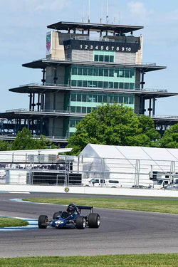 Robert Burnside - 1973 Brabham BT 40 in Group 9 - Formula Cars at the 2018 SVRA Brickyard Vintage Racing Invitational run at Indianapolis Motor Speedway