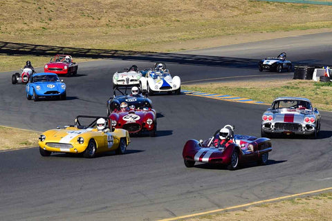 Group 1 - Sports and GT Cars as raced prior to 1963 at the 2018 CSRG Charity Challenge run at Sears Point Raceway