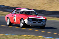 Gary Highland -  Alfa Romeo GTV in Group 2 - Small Displacement Production Sports Cars through 1967 at the 2018 CSRG Charity Challenge run at Sears Point Raceway