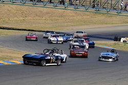 Group 3 - Large Displacement Production Sports Cars through 1967 at the 2018 CSRG Charity Challenge run at Sears Point Raceway