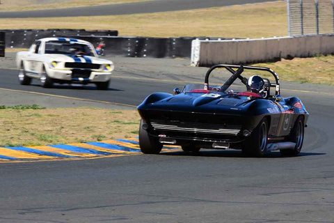 Jeffrey Abramson - 1964 Chevrolet Corvette in Group 3 - Large Displacement Production Sports Cars through 1967 at the 2018 CSRG Charity Challenge run at Sears Point Raceway