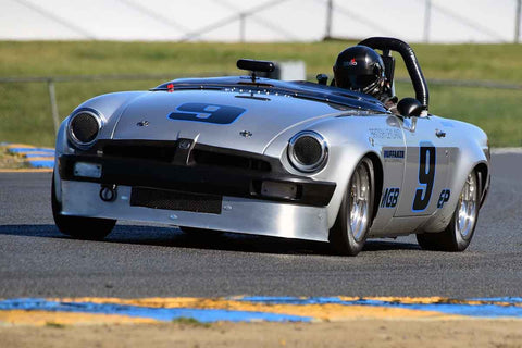 Scott Brown - 1964 MGB in Group 3 - Large Displacement Production Sports Cars through 1967 at the 2018 CSRG Charity Challenge run at Sears Point Raceway