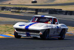 Dan Payne - 1963 Chevrolet Corvette in Group 3 - Large Displacement Production Sports Cars through 1967 at the 2018 CSRG Charity Challenge run at Sears Point Raceway