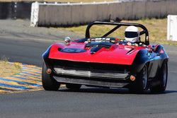 Larry Savio - 1965 Chevrolet Corvette in Group 3 - Large Displacement Production Sports Cars through 1967 at the 2018 CSRG Charity Challenge run at Sears Point Raceway