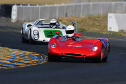 Duke Zander -  Lotus 23 in Group 4 - Small Displacement Sports Cars Racing Cars through 1967 at the 2018 CSRG Charity Challenge run at Sears Point Raceway