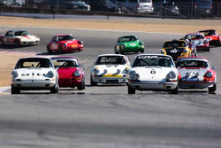 Group 3 - Eifel Trophy for 911 (911 up to 2.5 liter), 911TR, 911ST, 914, 914/6 at the 2018 Porsche Rennsport Reunion VI run at WeatherTech Raceway Laguna Seca