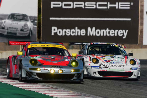 Group 7 - Flacht Cup for 964, 993, 996, 997 GT Cars at the 2018 Porsche Rennsport Reunion VI run at WeatherTech Raceway Laguna Seca
