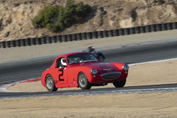 Terry Cowan - 1960 Austin Healey Sebring Sprite in Group 1 - 1947-1955 Sports Racing and GT Cars at the 2018 SCRAMP Monterey Pre-Reunion run at WeatherTech Raceway Laguna Seca