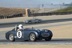 Peter Smith - 1958 Austin Healey Sprite in Group 1 - 1947-1955 Sports Racing and GT Cars at the 2018 SCRAMP Monterey Pre-Reunion run at WeatherTech Raceway Laguna Seca