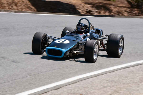 Bruce Sevier - 1968 Lola T-140 in Group 4 - 1968-1976 Formula 5000 at the 2018 SCRAMP Monterey Pre-Reunion run at WeatherTech Raceway Laguna Seca