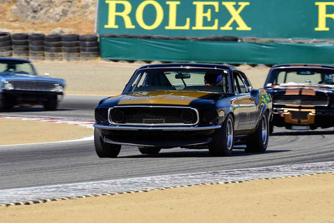 Ross Myers - 1969 Ford Mustang Boss 302 in Group 6 - 1966-1972 Trans-Am at the 2018 SCRAMP Monterey Pre-Reunion run at WeatherTech Raceway Laguna Seca