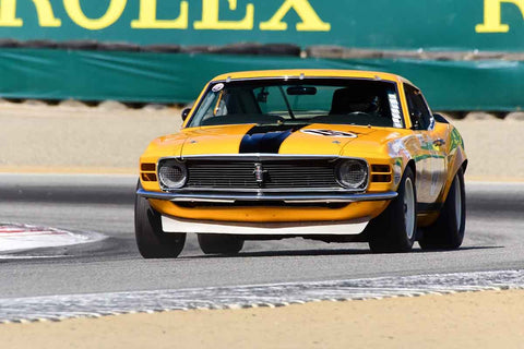 William E Connor - 1970 Ford Boss Mustang in Group 6 - 1966-1972 Trans-Am at the 2018 SCRAMP Monterey Pre-Reunion run at WeatherTech Raceway Laguna Seca