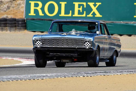 Mike Eddy - 1964 Ford Falcon in Group 6 - 1966-1972 Trans-Am at the 2018 SCRAMP Monterey Pre-Reunion run at WeatherTech Raceway Laguna Seca
