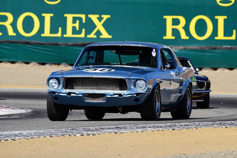 Steve Barber - 1967 Ford Mustang in Group 6 - 1966-1972 Trans-Am at the 2018 SCRAMP Monterey Pre-Reunion run at WeatherTech Raceway Laguna Seca