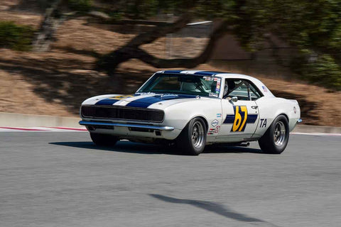 Jere Clark - 1968 Chevy Camaro in Group 6 - 1966-1972 Trans-Am at the 2018 SCRAMP Monterey Pre-Reunion run at WeatherTech Raceway Laguna Seca