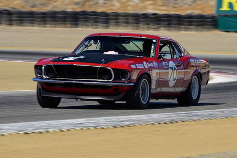 Andrew Alcazar - 1969 Ford Mustang Boss302 in Group 6 - 1966-1972 Trans-Am at the 2018 SCRAMP Monterey Pre-Reunion run at WeatherTech Raceway Laguna Seca