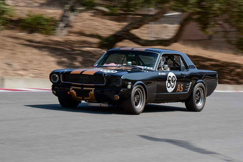 Mike Joy - 1966 Ford Mustang in Group 6 - 1966-1972 Trans-Am at the 2018 SCRAMP Monterey Pre-Reunion run at WeatherTech Raceway Laguna Seca