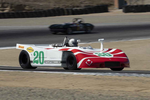 Cameron Healy - 1970 Porsche 908/3 in Group 7 - FIA Manufactures Championship at the 2018 SCRAMP Monterey Pre-Reunion run at WeatherTech Raceway Laguna Seca