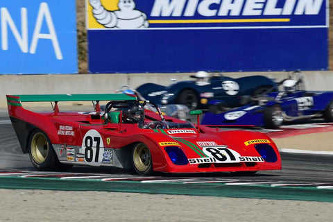 Lyn St James - 1972 Ferrari 312PB in Group 7 - FIA Manufactures Championship at the 2018 SCRAMP Monterey Pre-Reunion run at WeatherTech Raceway Laguna Seca