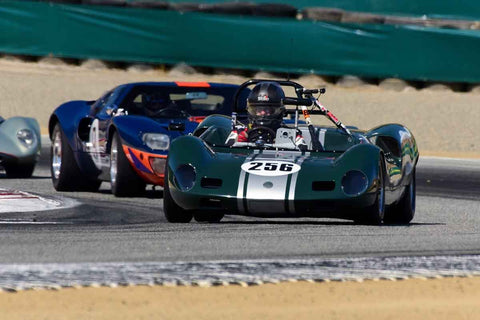 Roger Cassin - 1964 Elva Mk7S in Group 7 - FIA Manufactures Championship at the 2018 SCRAMP Monterey Pre-Reunion run at WeatherTech Raceway Laguna Seca