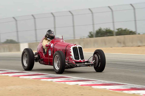 U. Daniel Ghose - 1933 Maserati 4CM in Group 1A - Pre-1940 Sports Racing and Touring Cars/Race cars and 1927-1951 Racing Cars at the 2018 SCRAMP Rolex Monterey Motorsports Reunion run at WeatherTech Raceway Laguna Seca
