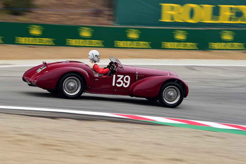 Conrad Stevenson - 1939 Alfa Romeo 6C 2500 in Group 1A - Pre-1940 Sports Racing and Touring Cars/Race cars and 1927-1951 Racing Cars at the 2018 SCRAMP Rolex Monterey Motorsports Reunion run at WeatherTech Raceway Laguna Seca