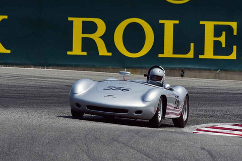 Gregory Campbell - 1955 Devin Porsche 356 PreA in Group 2B - 1955-1961 Sports Racing under 2000cc at the 2018 SCRAMP Rolex Monterey Motorsports Reunion run at WeatherTech Raceway Laguna Seca